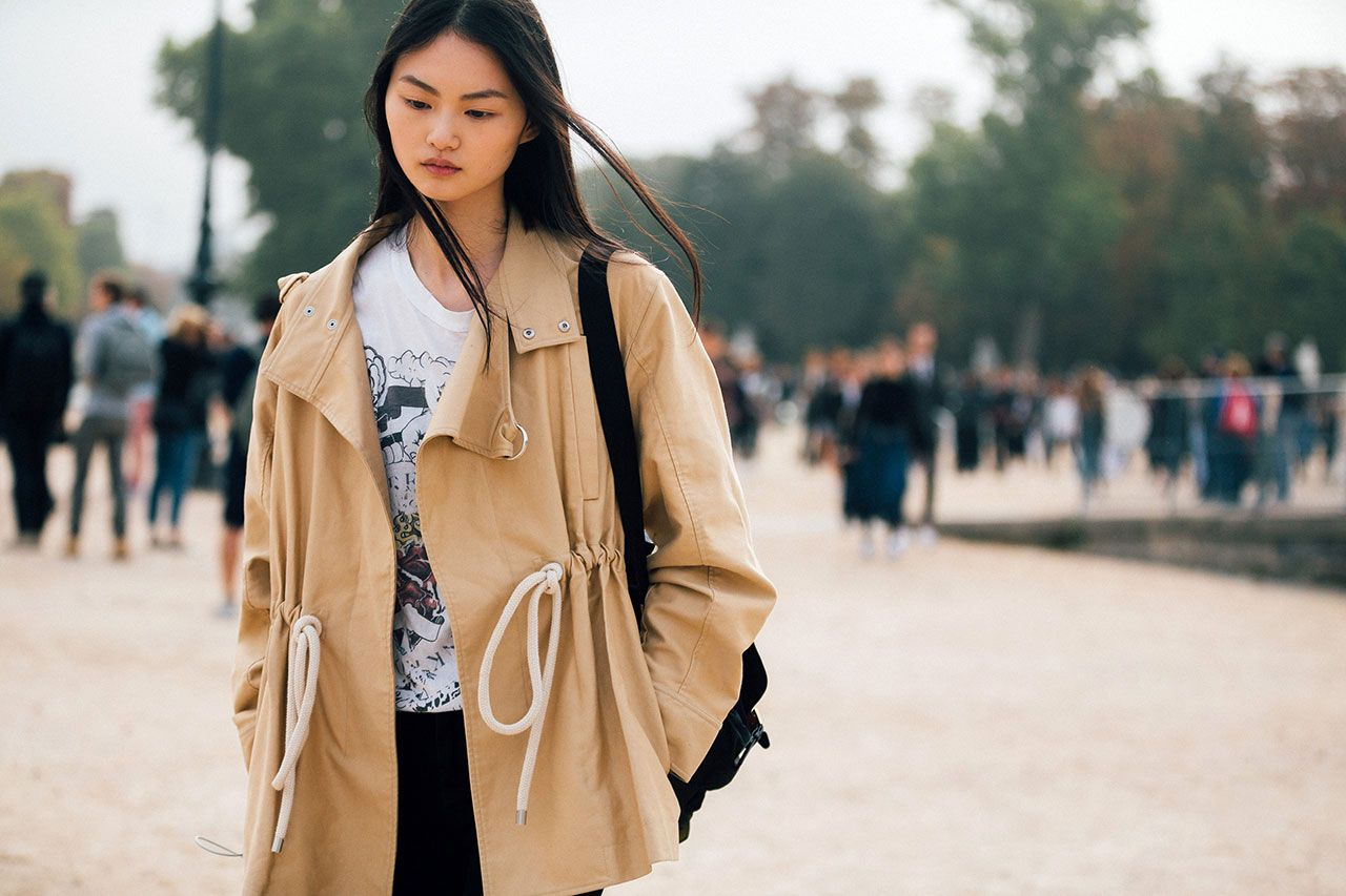 See what the models are wearing off duty in Paris – Of The Minute. Cong He