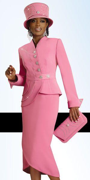Lisa Rene By Donna Vinci Womens Rose Pink Church Suit 3182 Church