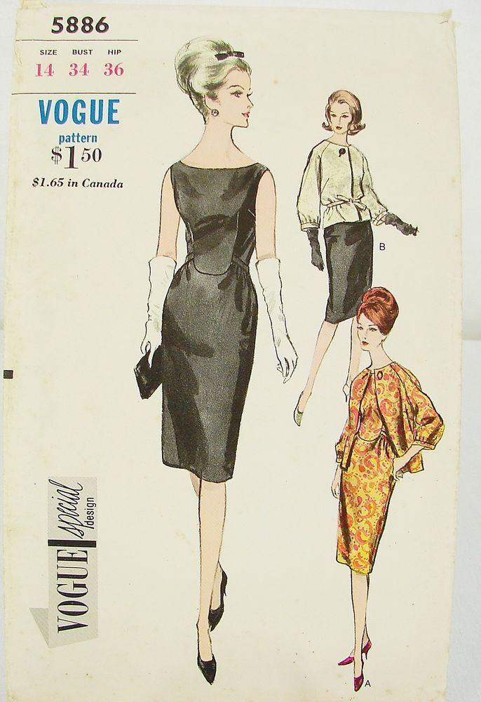 4b84e6df03f1 VSD 5886 Dress   Jacket 1963 This slim sleeveless evening or cocktail dress  is so elegant