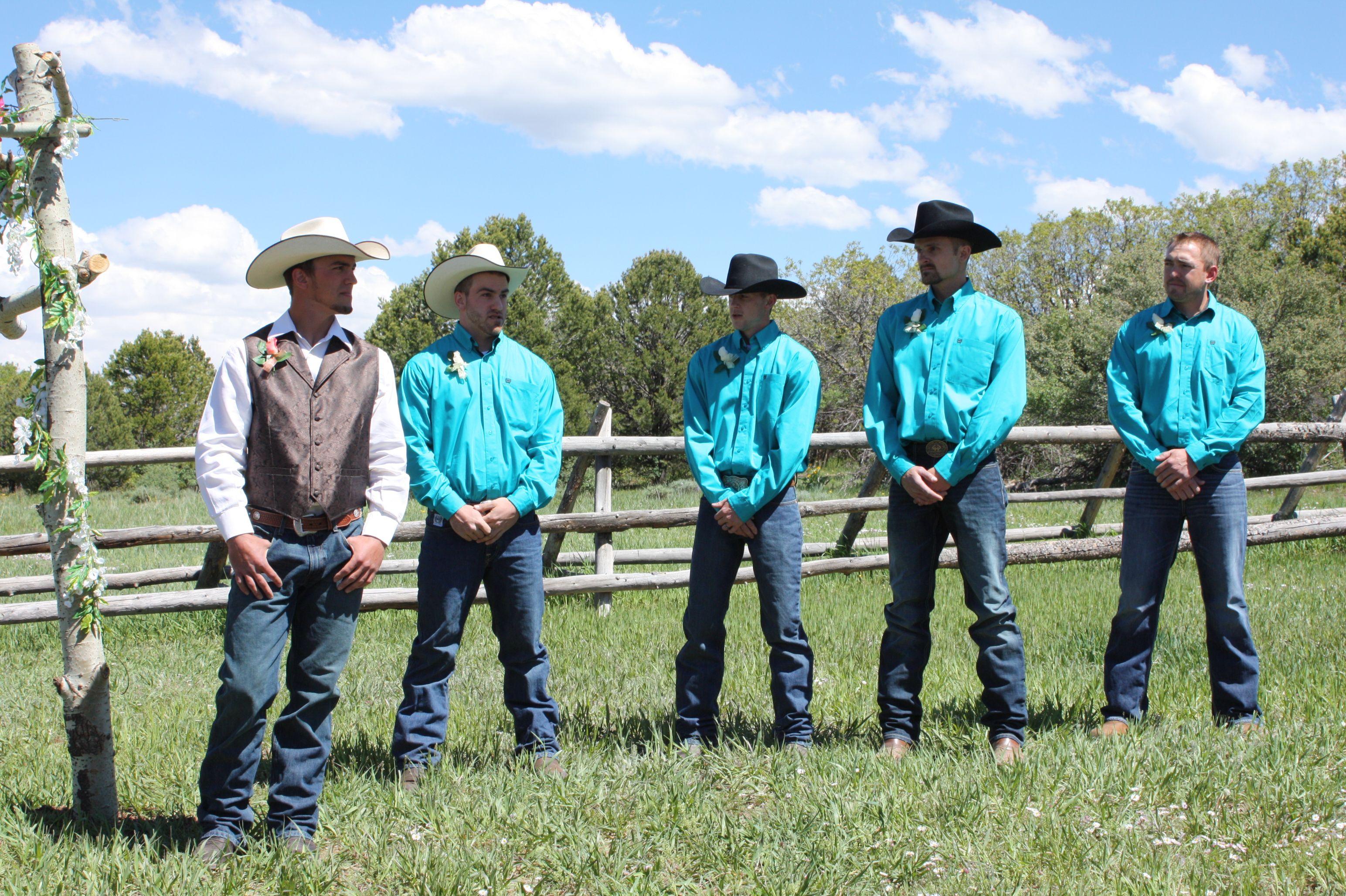 Cowboy Wedding Rustic Country Wedding Turquoise And Brown Country Groomsmen Cowboy Wedding Country Wedding Groomsmen