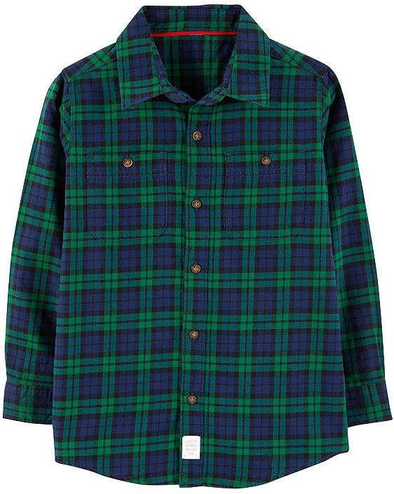 ae38b598 Carter's Sweater Fleece Vest Long Sleeve Plaid Flannel Shirt-Preschool Boys