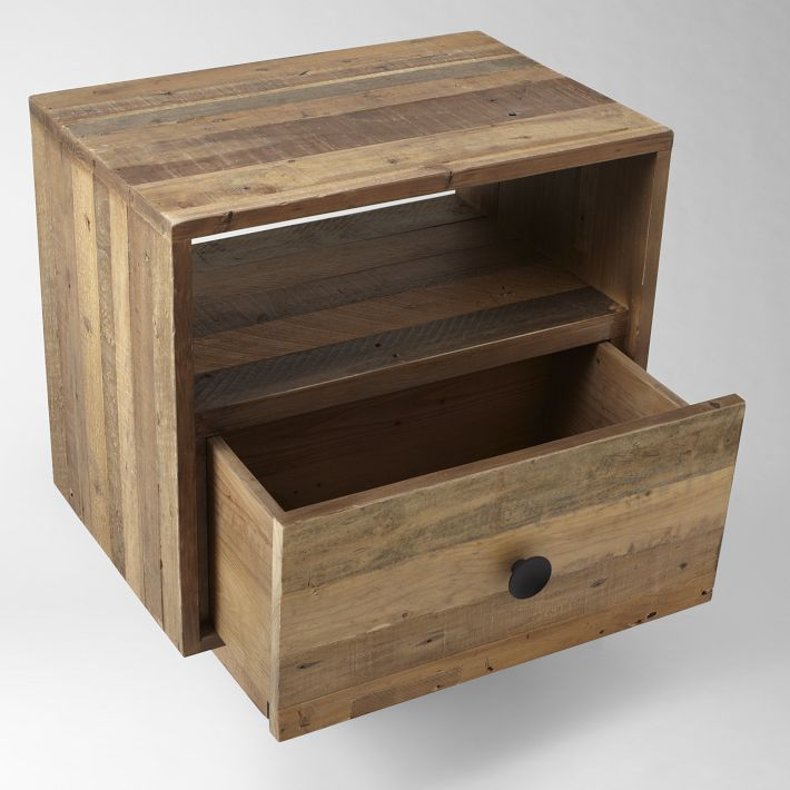 Emmerson Reclaimed Wood Nightstand Natural In 2020 Reclaimed