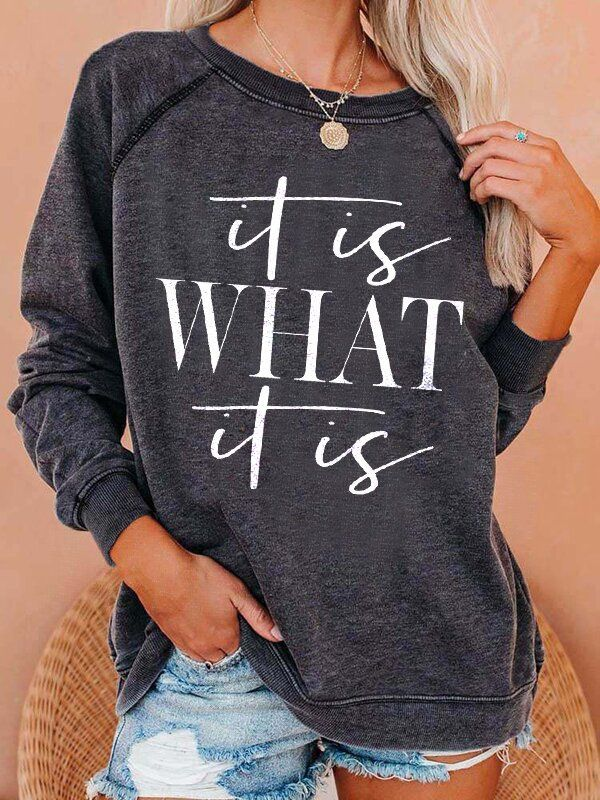Anniecloth Long Sleeve 1 Black Women T-Shirts & Tees Cotton Crew Neck Casual Daily T-Shirts & Tees
