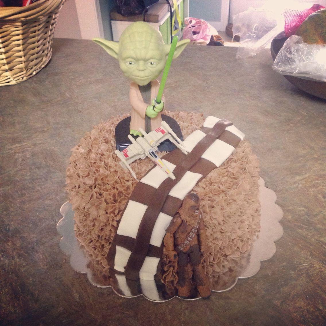 Chewbaca theme cake for my 6 year old!