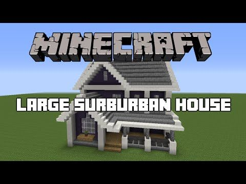 Minecraft Large Suburban House Tutorial Youtube Minecraft