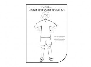 f2db91923 Your creative little football fan willl have lots of fun designing his very own  football team. It s a goal!