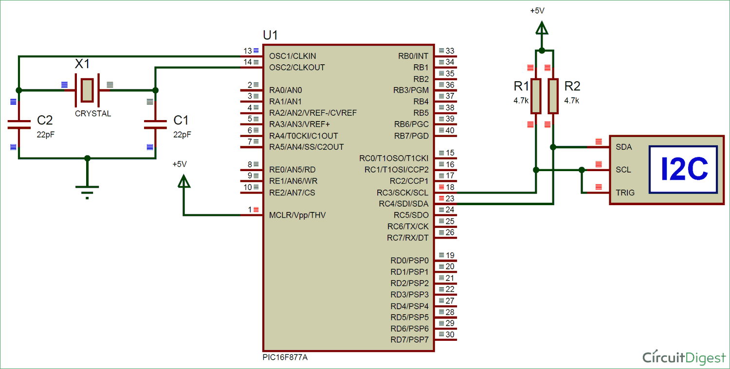 circuit diagram of i2c communication with pic microcontroller [ 1500 x 759 Pixel ]