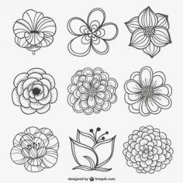 Noir Et Blanc En 2019 Inspiration Graphique Fleur Noir