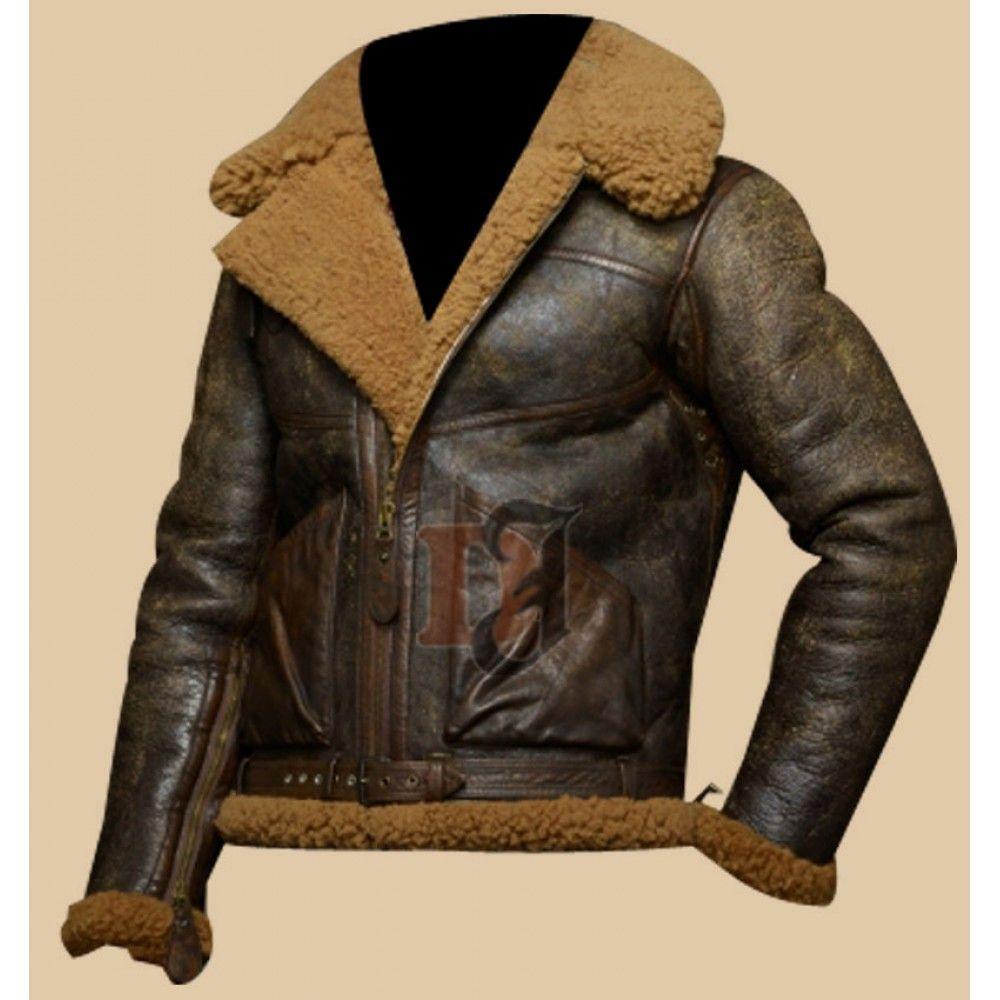 Military Men S Distressed Brown Bomber Jacket Faux Shearling Leather Jacket Distressed Leather Jacket Brown Bomber Jacket Leather Jacket Men [ 1000 x 1000 Pixel ]