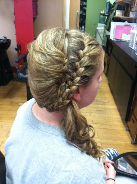 Side up-do  with French braid :)