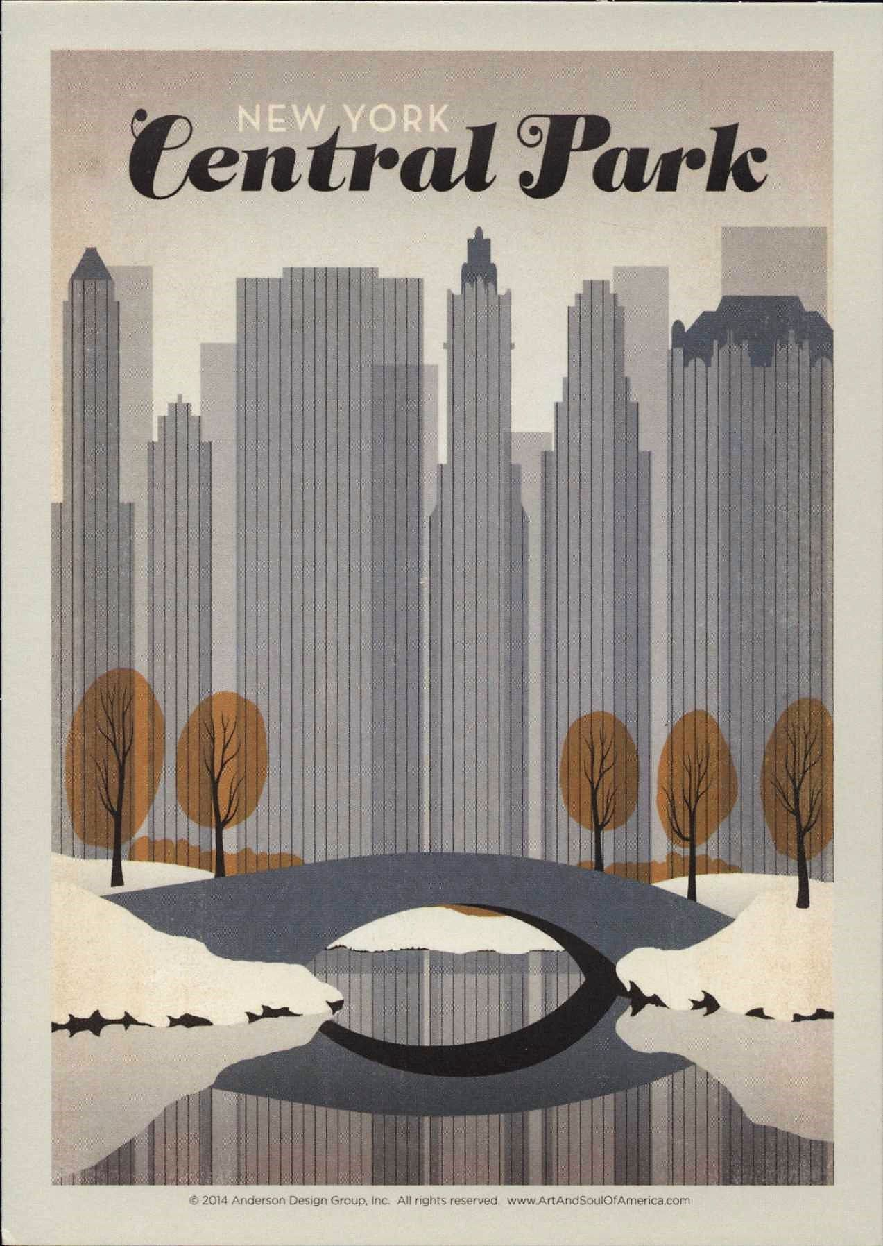 New York City Winter Central Park Travel Poster Style Etsy Nyc Wall Art Central Park Nyc Central Park