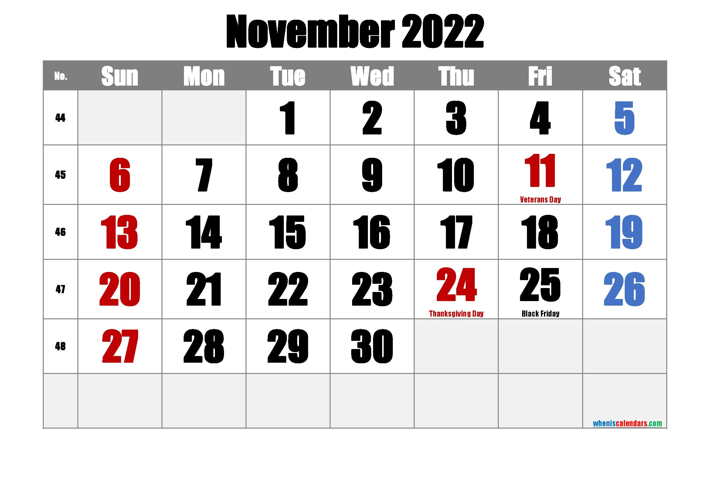 Free Printable Calendar November 2022.Free Printable November 2022 Calendar Pdf And Png Calendar Printables Calendar Printables