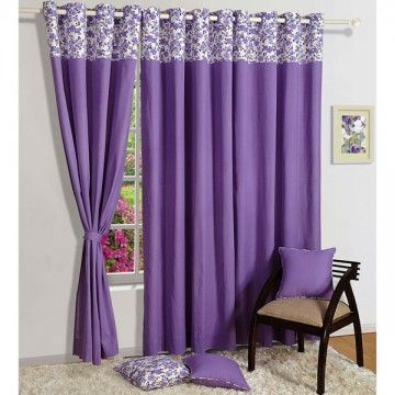 Solid Bloom Curtains-1657