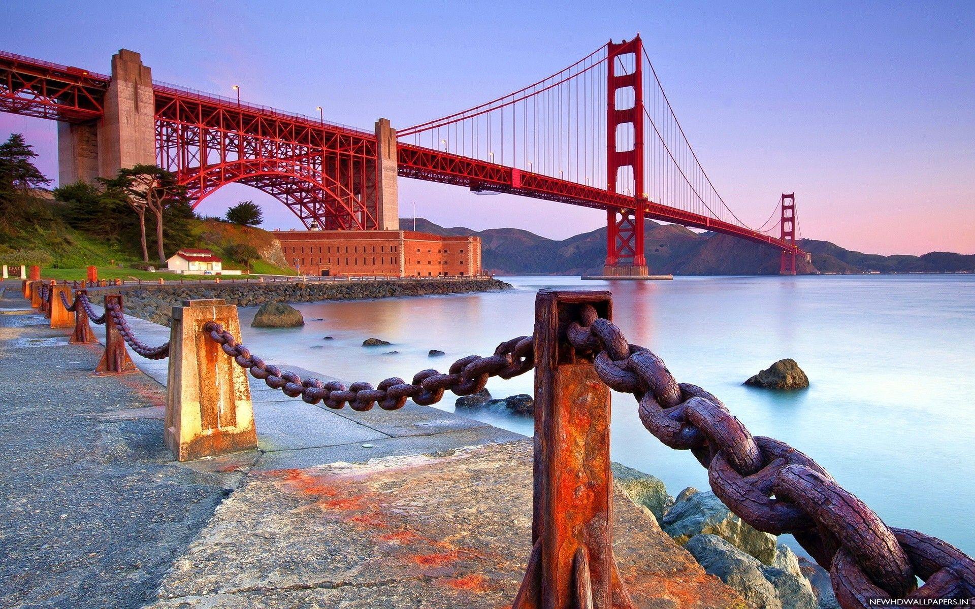 Golden Gate Bridge Coast Nice City Hd Wallpaper Jpg 1920 1200 Puente Golden Gate San Francisco Eeuu Puentes