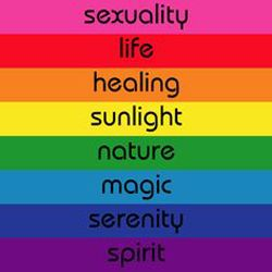 Meaning Of Colors eight original meanings of the colors of the rainbow flag, lgbt