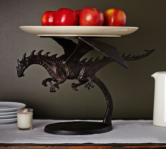 Flying Dragon Platter Stand Pottery Barn Halloween 2014