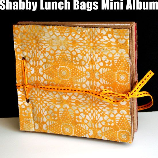 Recycled Lunch Bags Mini Album