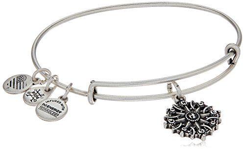 Alex and Ani Compass Expandable Charm Bracelet, Rafaelian Silver-Tone