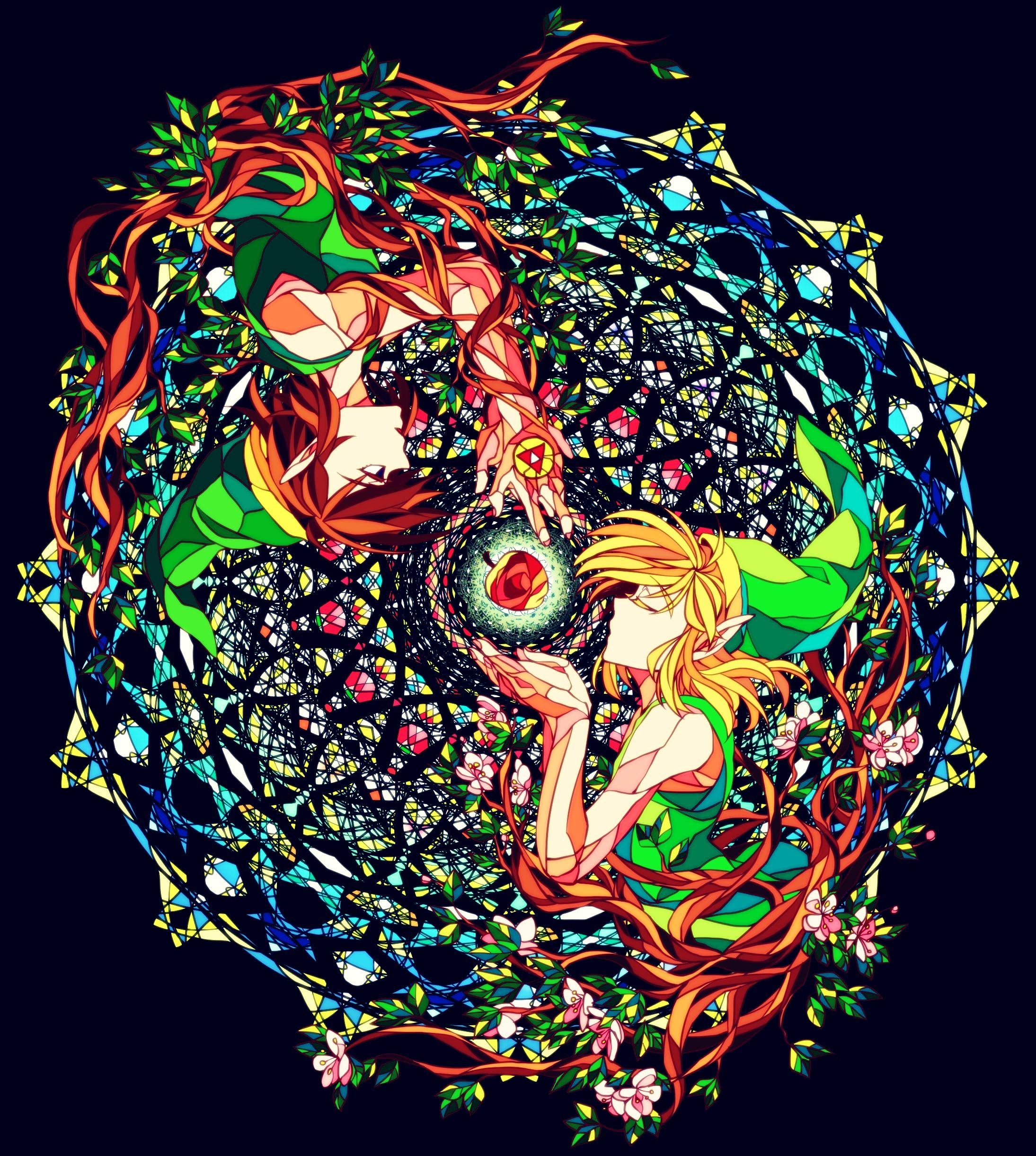 The Legend of Zelda / Link / 「ステンドグラスぽいの」/「秋楽」の漫画 [pixiv]