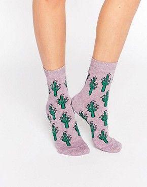 ASOS – Söckchen mit glitzerndem Kaktus