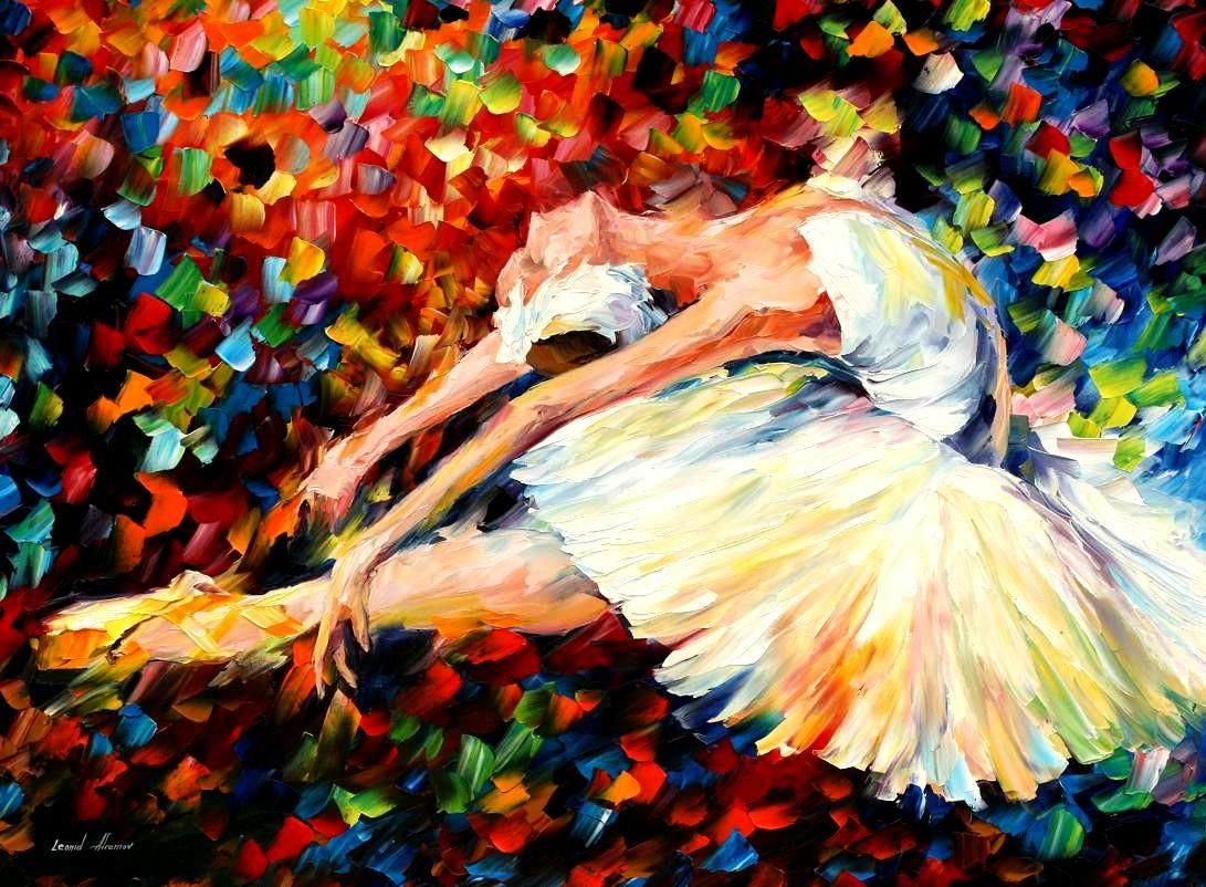 THRILL - Palette knife Oil Painting  on Canvas by Leonid Afremov