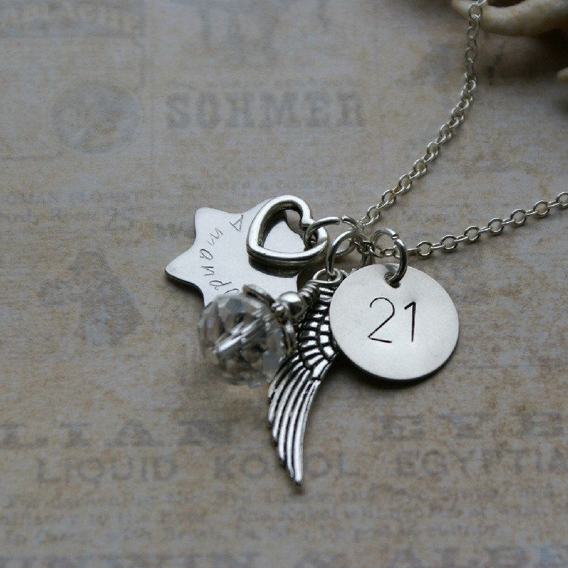 Personalised 21st Birthday Necklace Keepsake By RubysCharms 1199