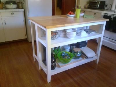 For Living Kitchen Island With Folding Leaf Household Organising