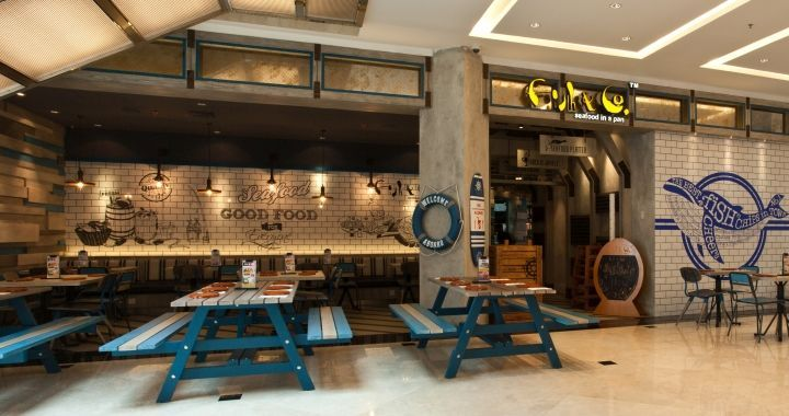 Oceanic food court eateries interiors and