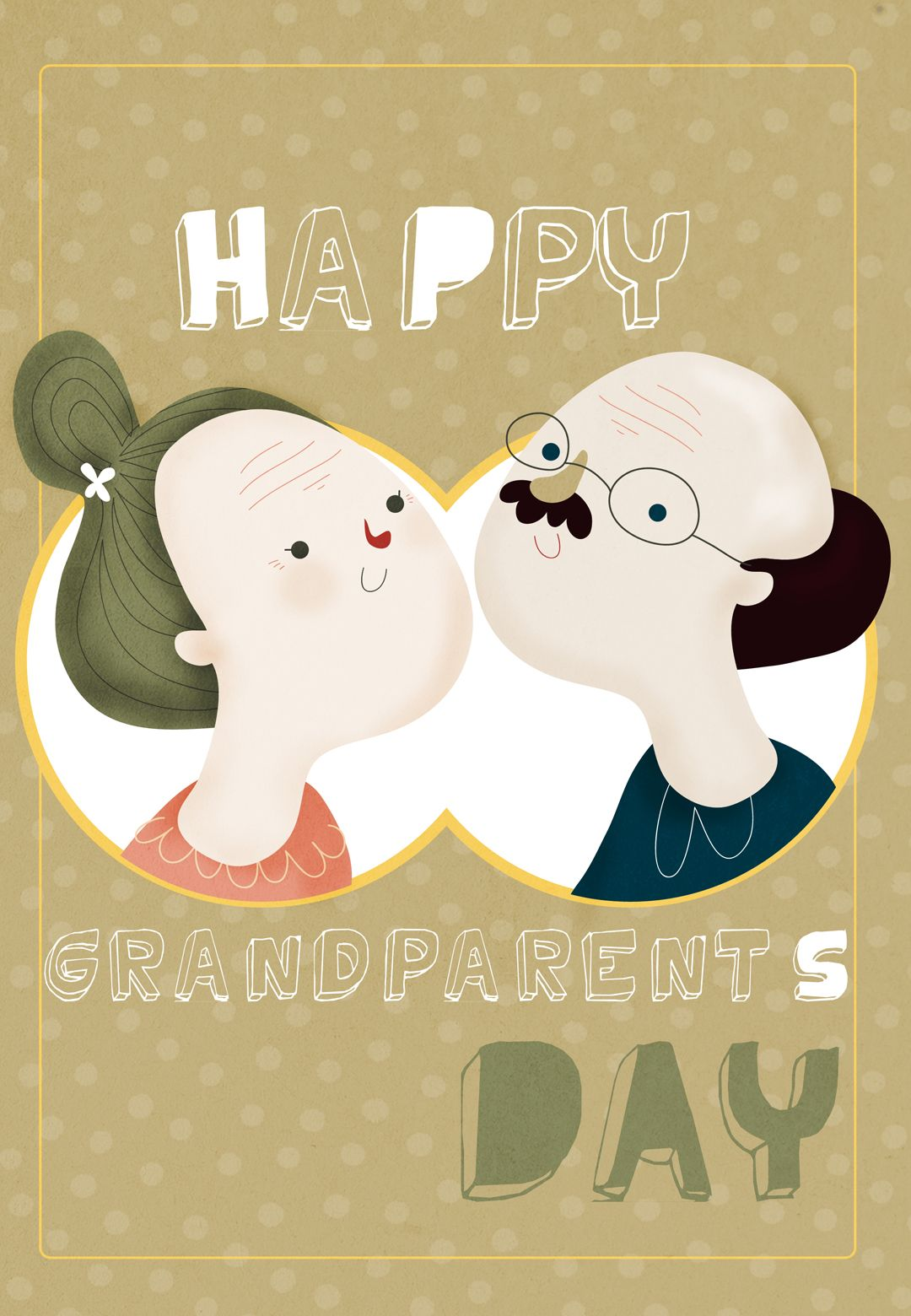Free Printable Happy Grandparents Day Greeting Card