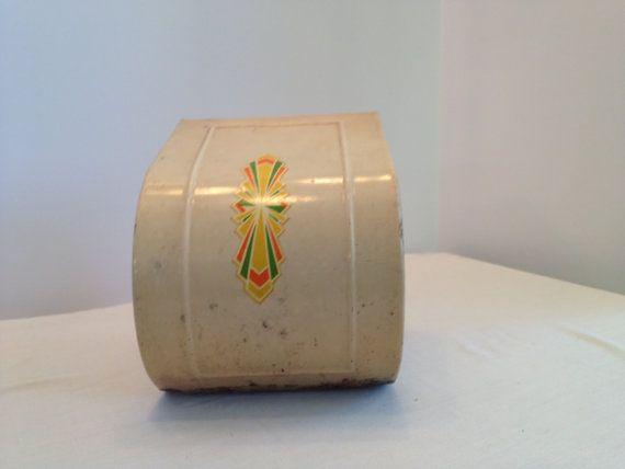 Vintage Steel Metal Enclosed Toilet Paper Holder on Etsy, $30.00