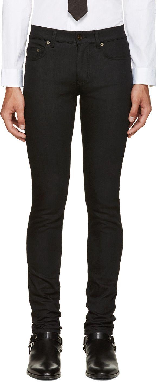 89d9230a14 Saint Laurent $400 usd Black Original Low Waisted Skinny Jeans ...