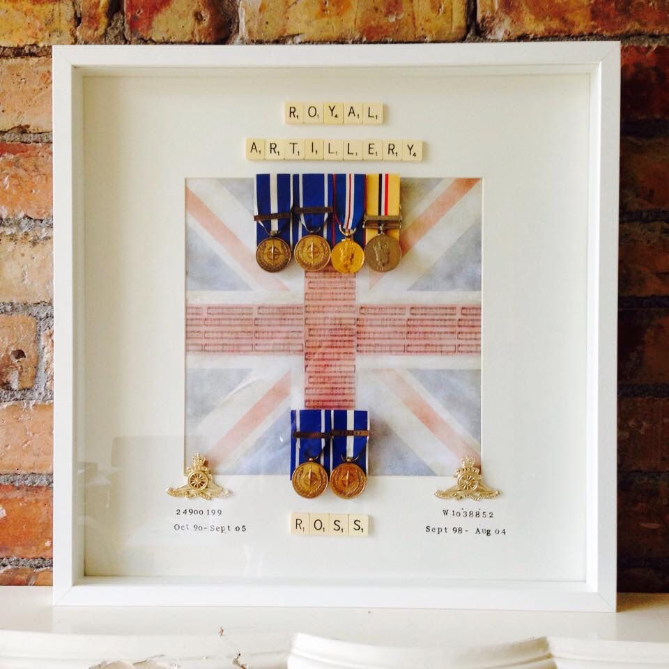 Our first ever military medals frame gifted on pride of Britain day ...
