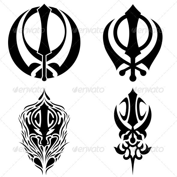 Khanda Sikhs Pattern Art Sticker