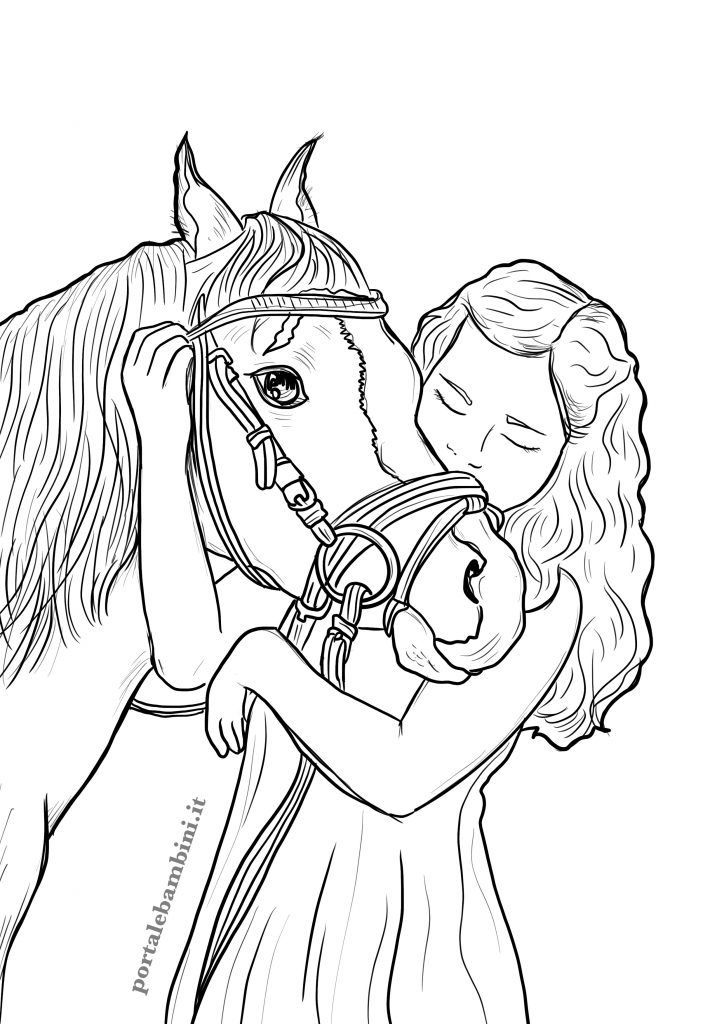 Gallery Horse Coloring Pages   portalebambini.com is free HD wallpaper.