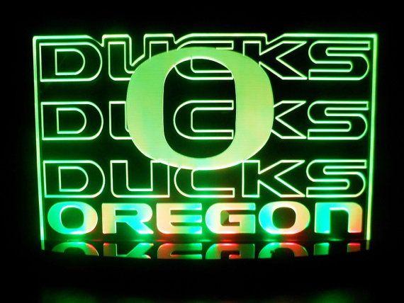 Ncaa Oregon Ducks Football Led Desk Lamp Night Light Beer