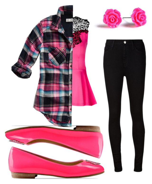 """Pink Craze"" by zanyfaery on Polyvore featuring City Chic, AG Adriano Goldschmied, Love Moschino and Abercrombie & Fitch"