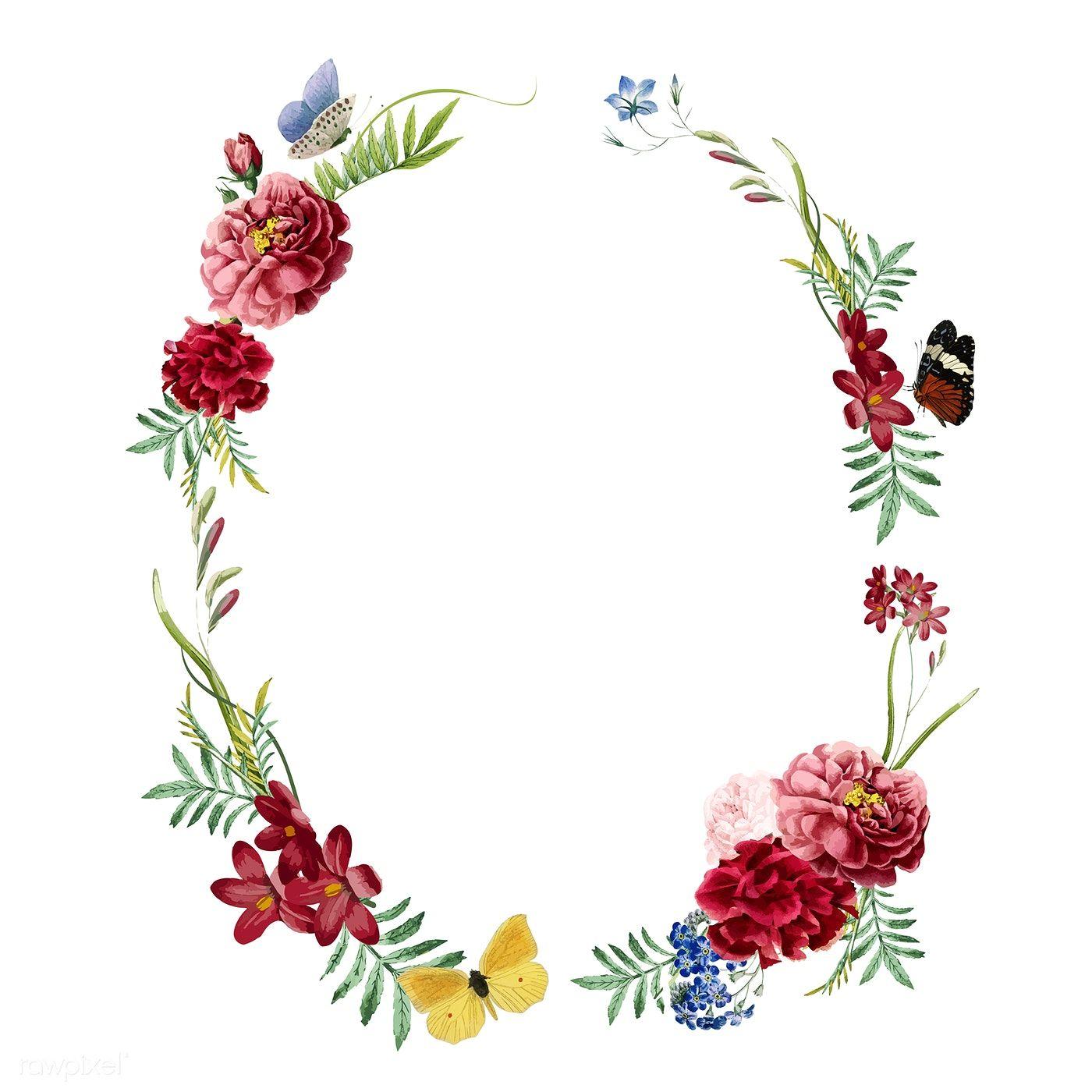 Download Premium Vector Of Floral Frame Invitation Card Design 466609 Floral Cards Design Card Design Invitation Card Design