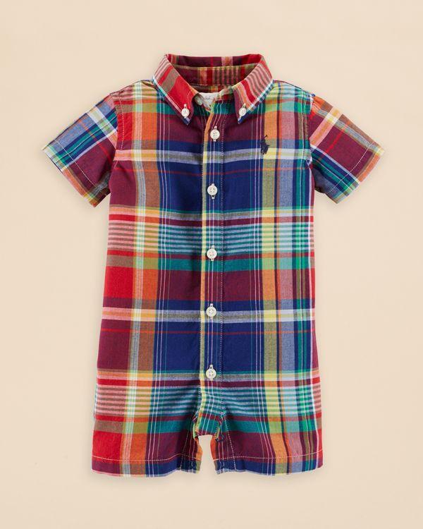 Ralph Lauren Childrenswear Infant Boys' Madras Plaid One Pie…