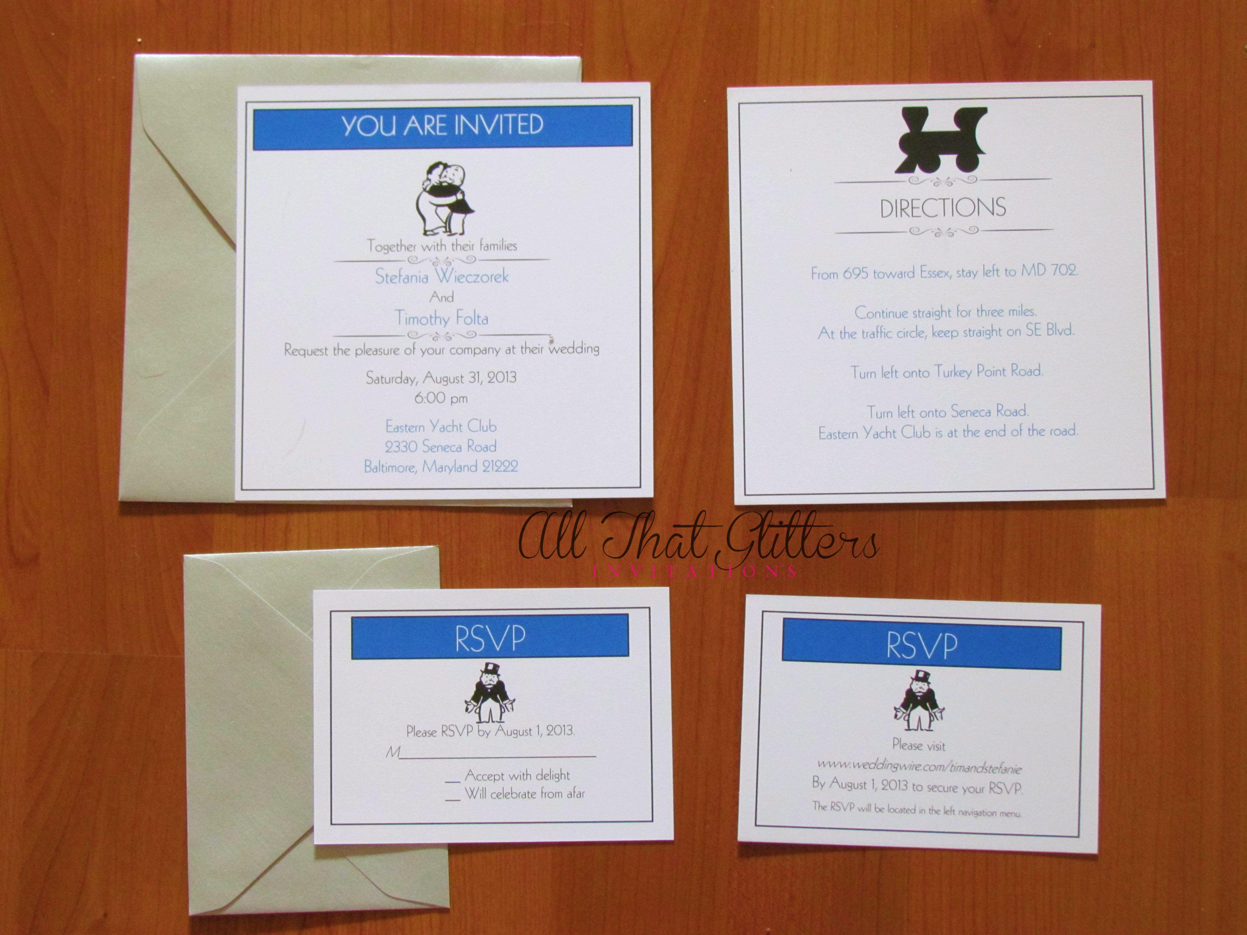 Offering Glitter Wedding Invitations & More | Wedding invitation ...
