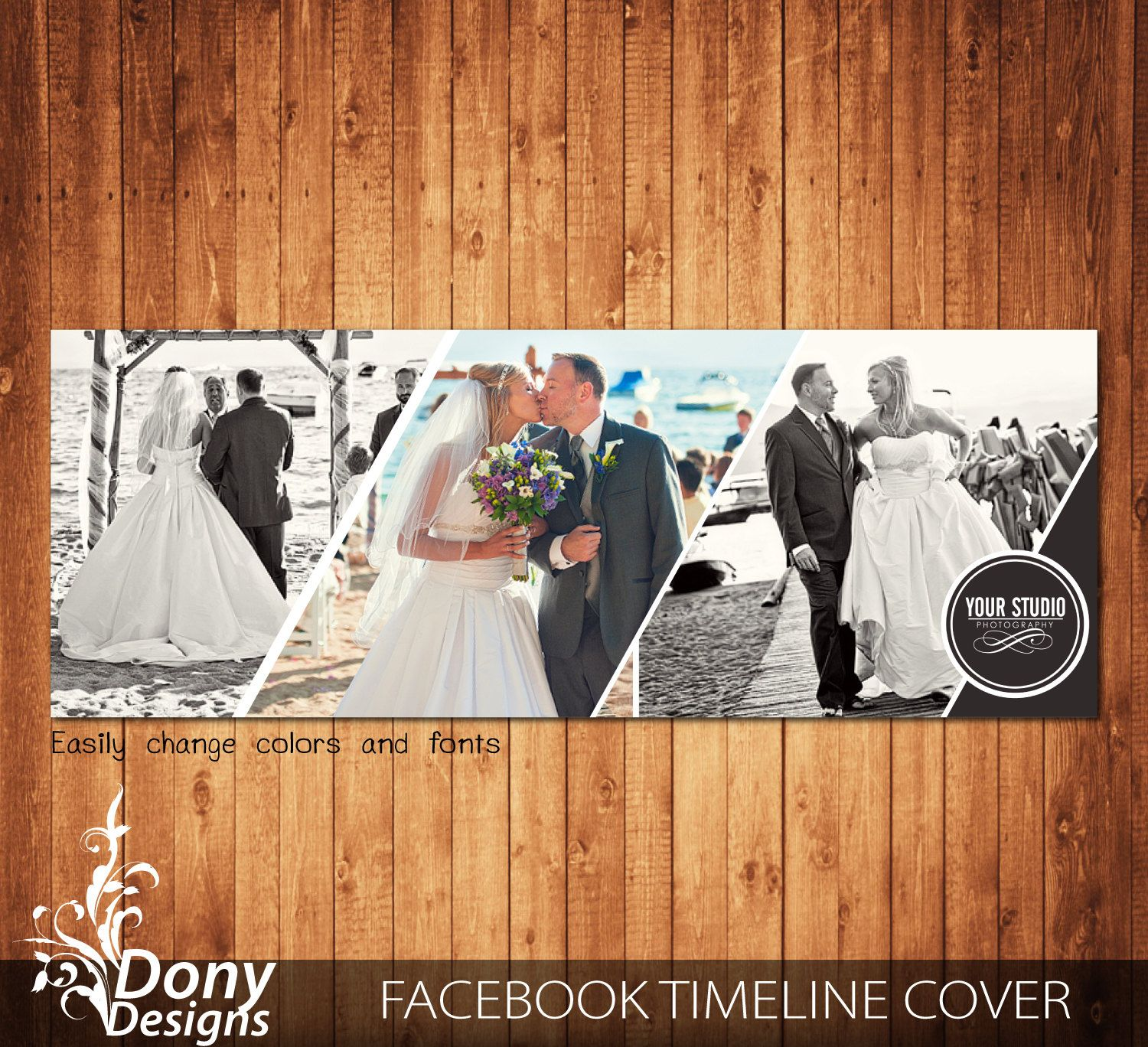 Wedding Facebook Timeline Cover Template Photo Collage Photoshop Template Instant Download Photo Collage Photoshop Facebook Timeline Covers Timeline Covers