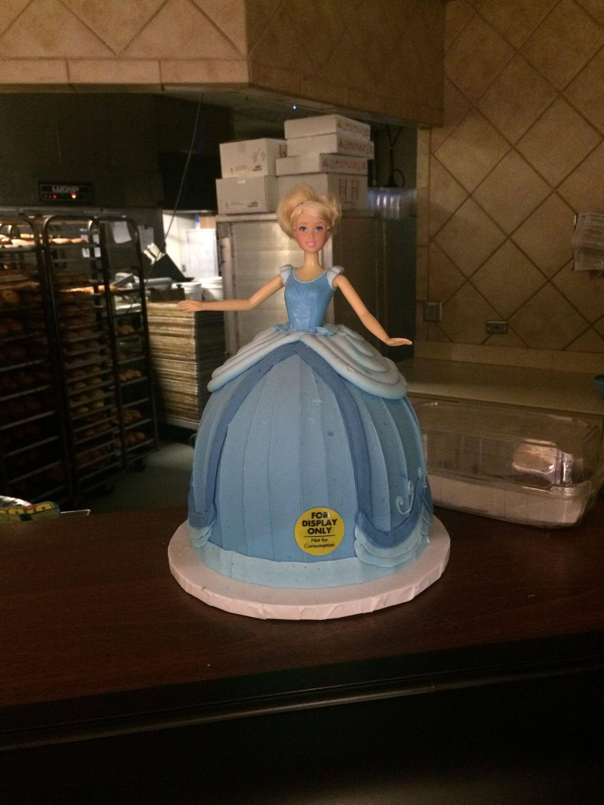 Brilliant Cinderella Barbie Cake At Safeway Barbie Birthday Cake Barbie Personalised Birthday Cards Paralily Jamesorg