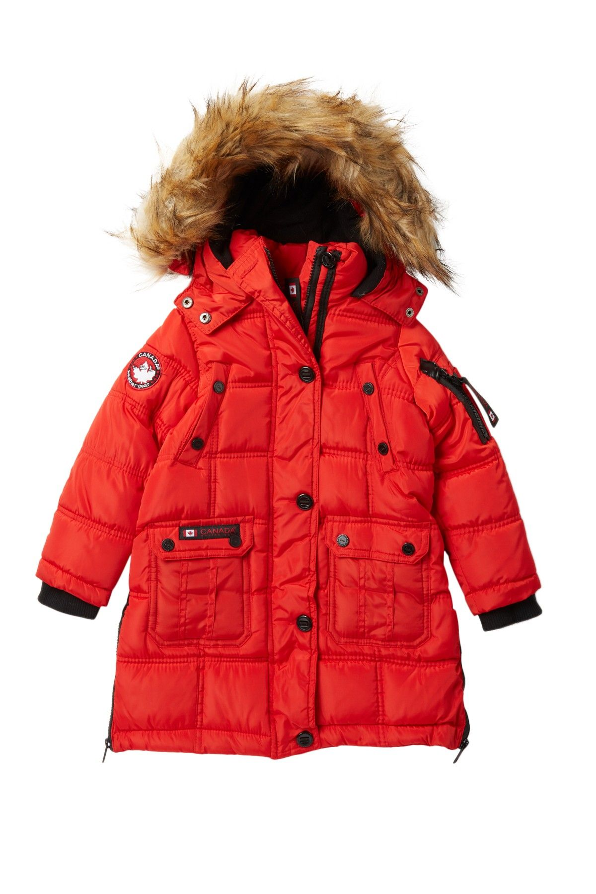 Canada Weather Gear Long Quilted Bubble Jacket With Faux Fur Nordstrom Rack Jackets Faux Fur Quilted [ 1800 x 1200 Pixel ]