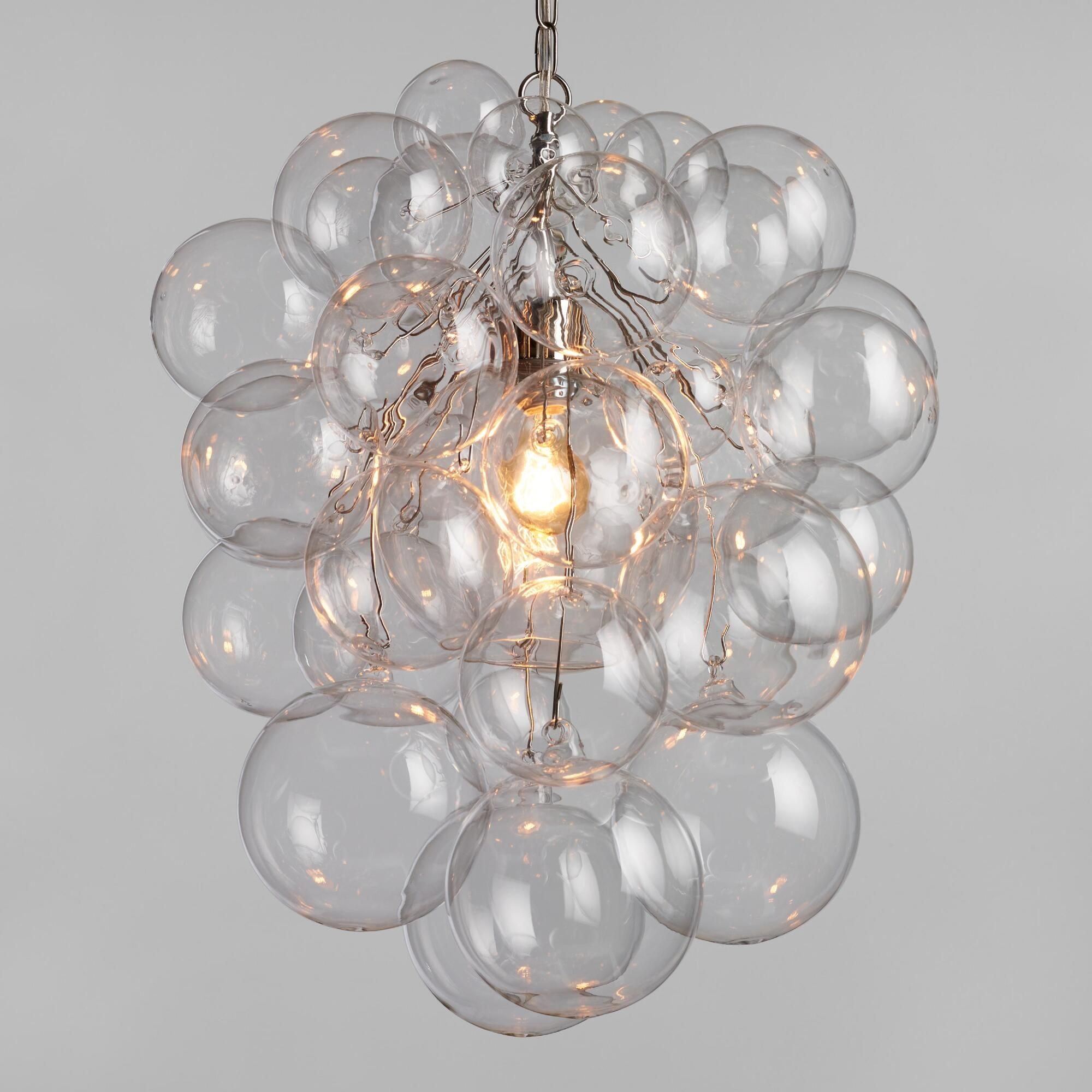 Bubble glass orb chandelier for the home bubble chandelier orb