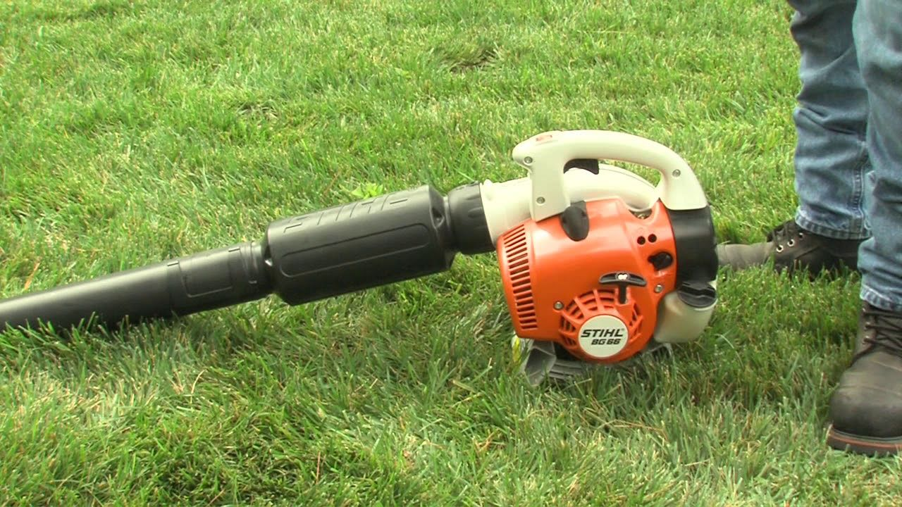 How To Start Your Stihl Blower Stihl Blowers Cleaning Gutters