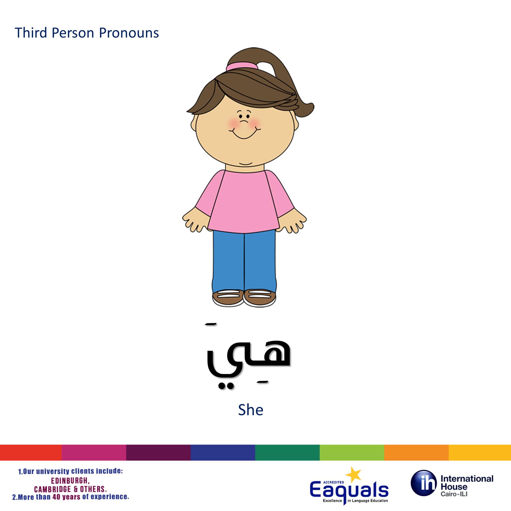 Third Person Pronouns She