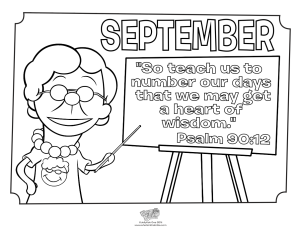 Psalm 90 12 Coloring Pages