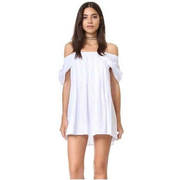 Short white ruched dress
