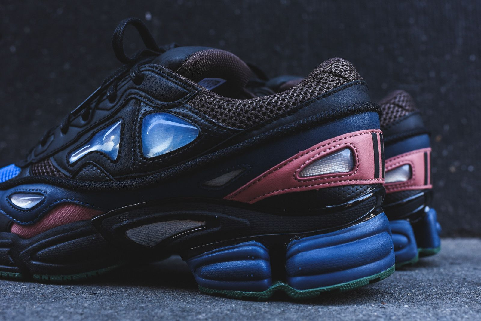 adidas by Raf Simons Ozweego 2 - Black   Blue   Pink   Adidas Raf ... bf5da51a2d3