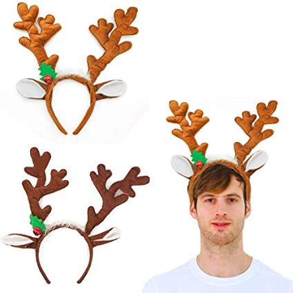 Amazon Com Hansgo Reindeer Antlers Headband 2pcs Deer Antlers Headband With Bells Cute Christmas Reindee Reindeer Ears Deer Antlers Headband Reindeer Antlers