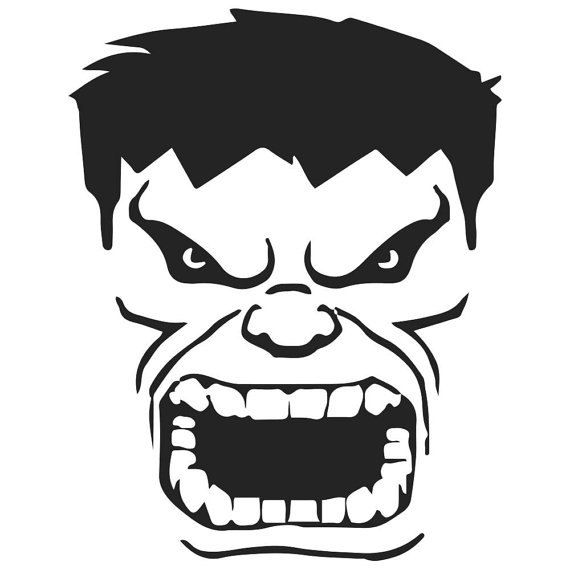 Vinyl decal sticker hulk mad decal inspired by the avengers for windows cars laptops macbook etc